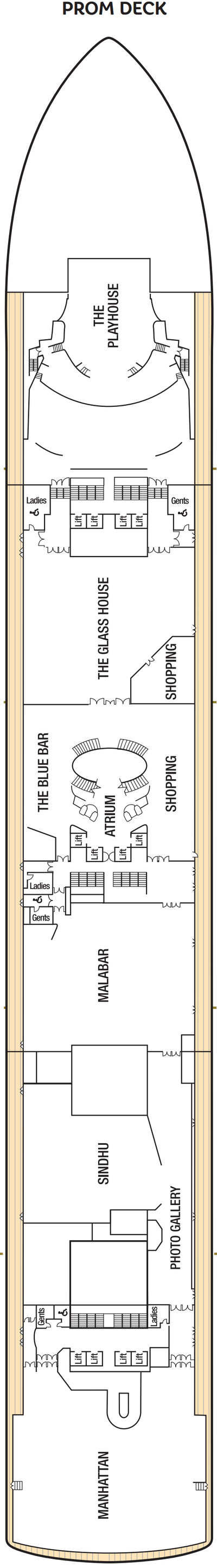 Azura Promenade Deck layout
