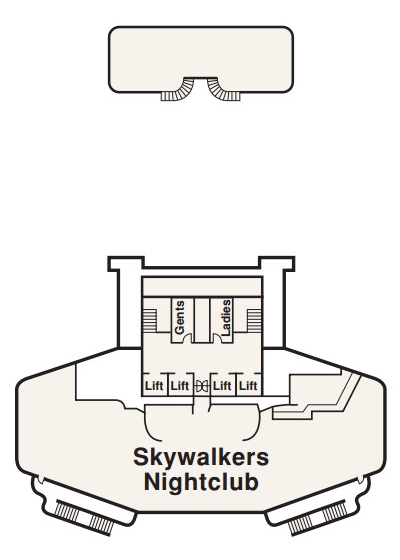 Crown Princess Sky Deck 18 layout