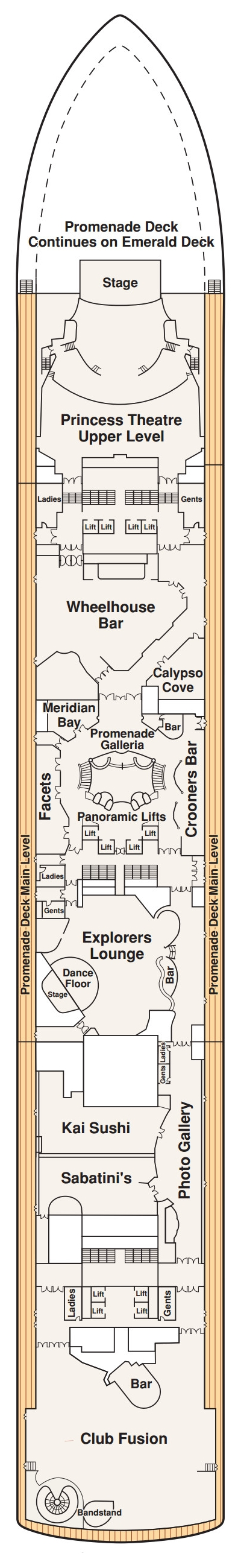 Diamond Princess Promenade Deck 7 layout