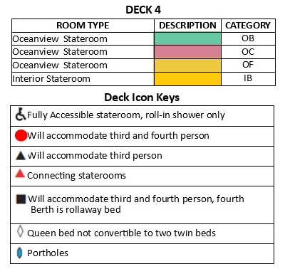 Pacific Princess Deck 4 plan keys