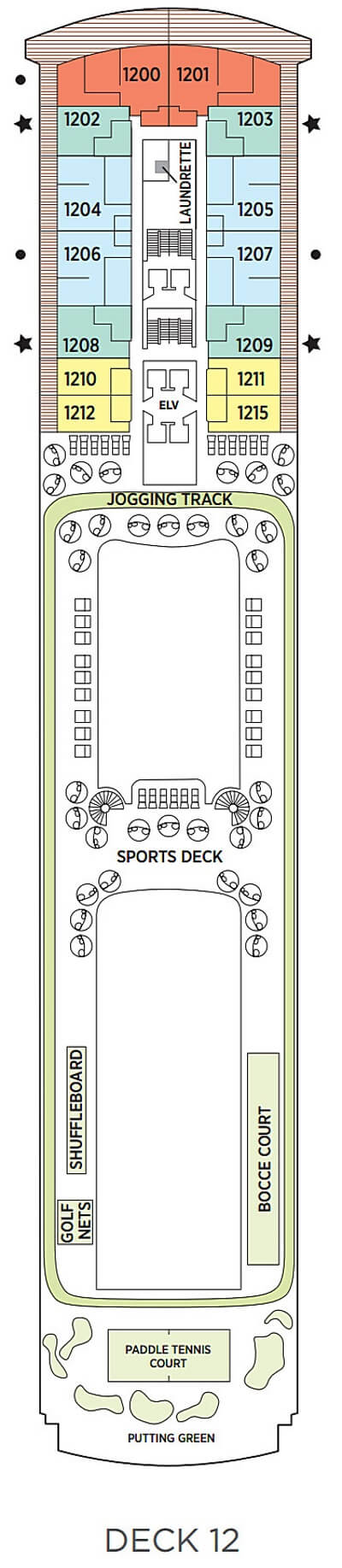 Seven Seas Explorer Deck 12 layout