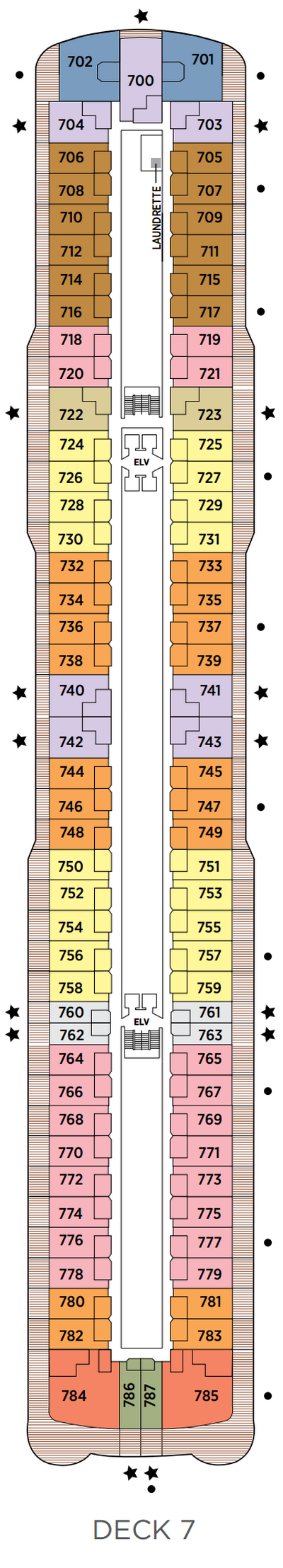 Seven Seas Splendor Deck 7 layout