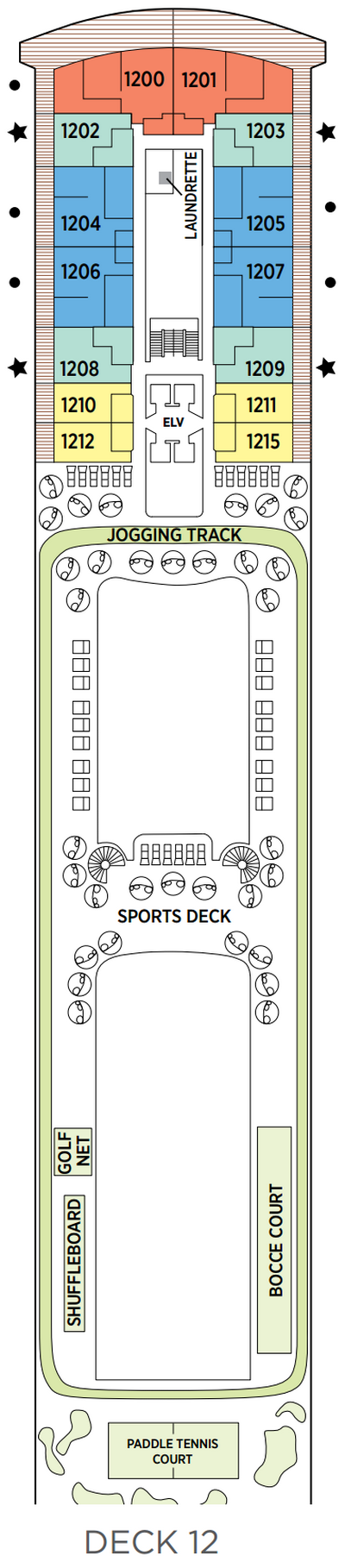 Seven Seas Splendor Deck 12 layout