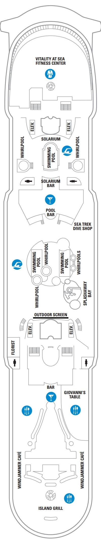 Adventure Of The Seas Deck 11 layout