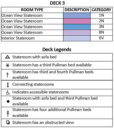 Adventure Of The Seas Deck 3 plan keys