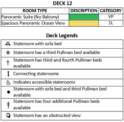 Adventure Of The Seas Deck 12 plan keys