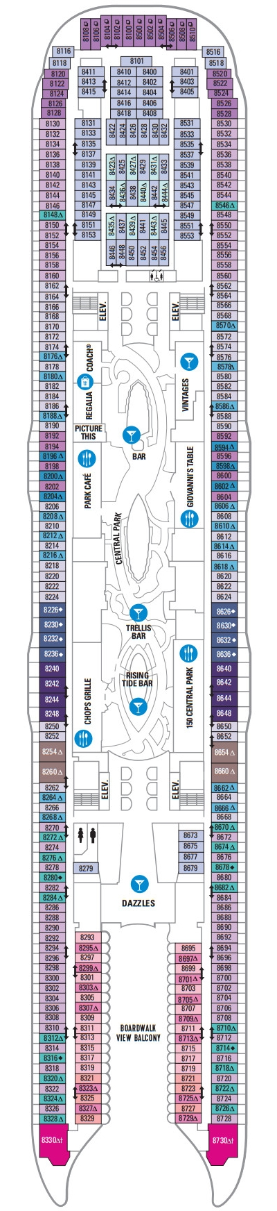 Allure Of The Seas Deck 8 layout