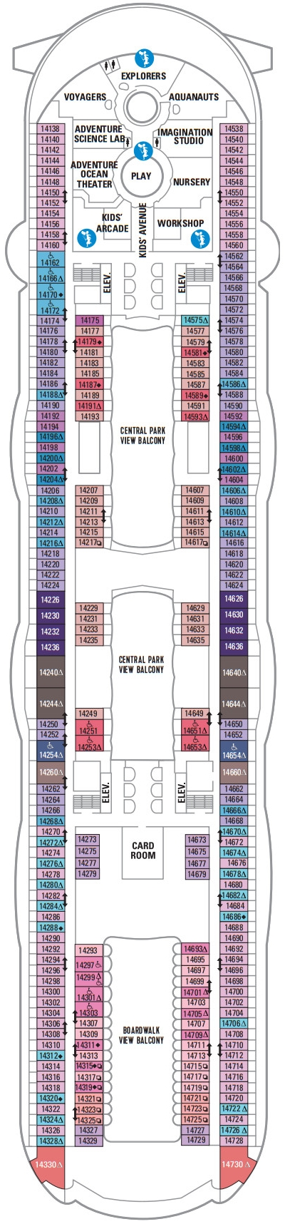 Allure Of The Seas Deck 14 layout