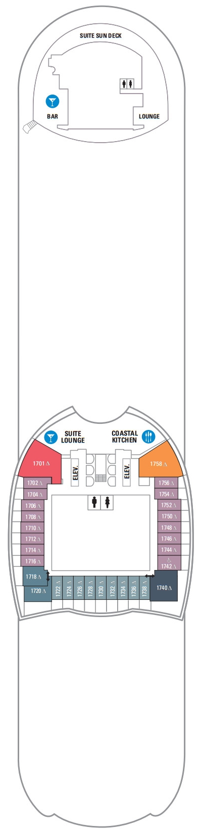 Allure Of The Seas Deck 17 layout
