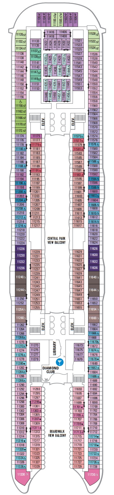 Allure Of The Seas Deck 11 layout