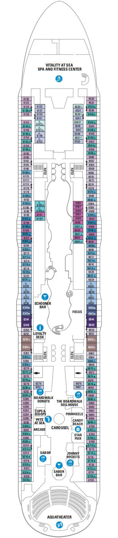 Allure Of The Seas Deck 6 layout