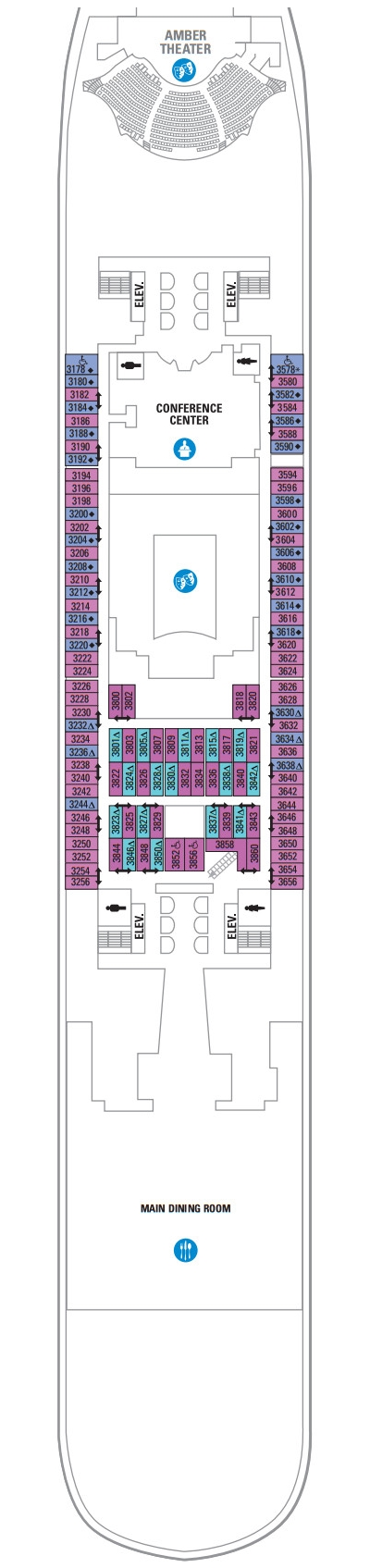 Allure Of The Seas Deck 3 layout