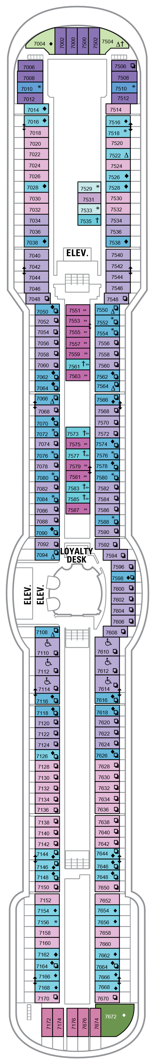 Brilliance Of The Seas Deck 7 layout