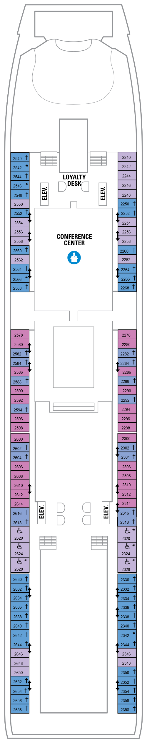 Explorer Of The Seas Deck 2 layout