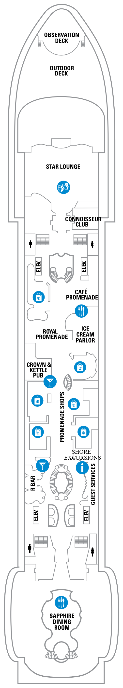 Explorer Of The Seas Deck 5 layout