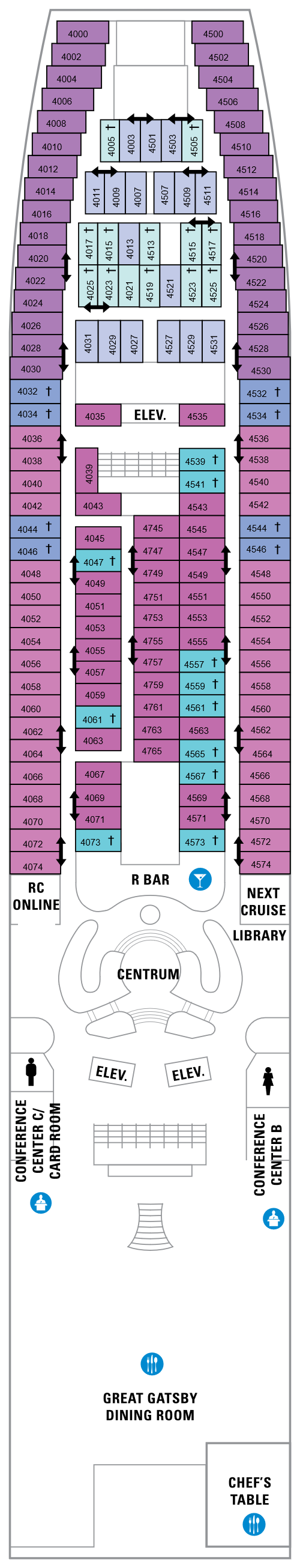 Grandeur Of The Seas Deck 4 layout