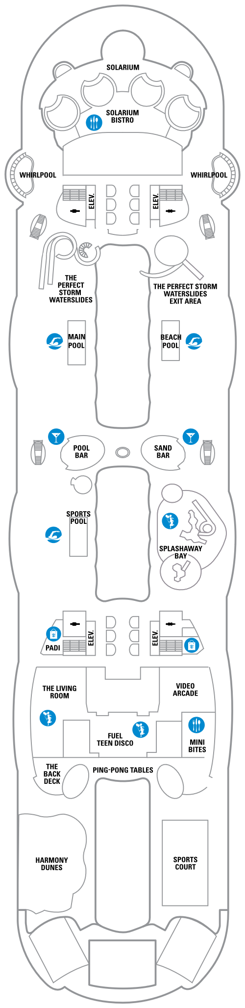 Harmony of the Seas Deck 15 layout