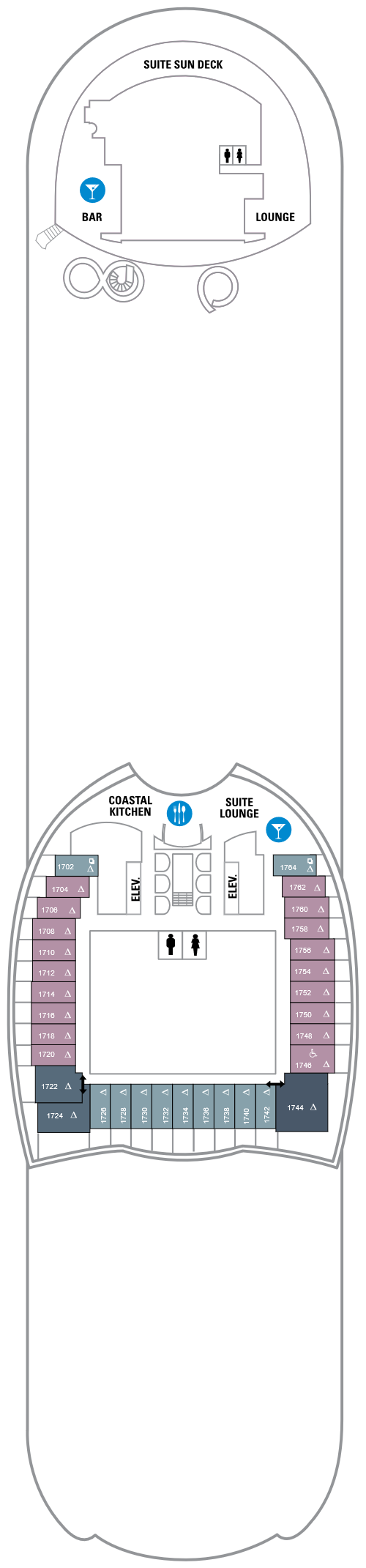 Harmony of the Seas Deck 17 layout