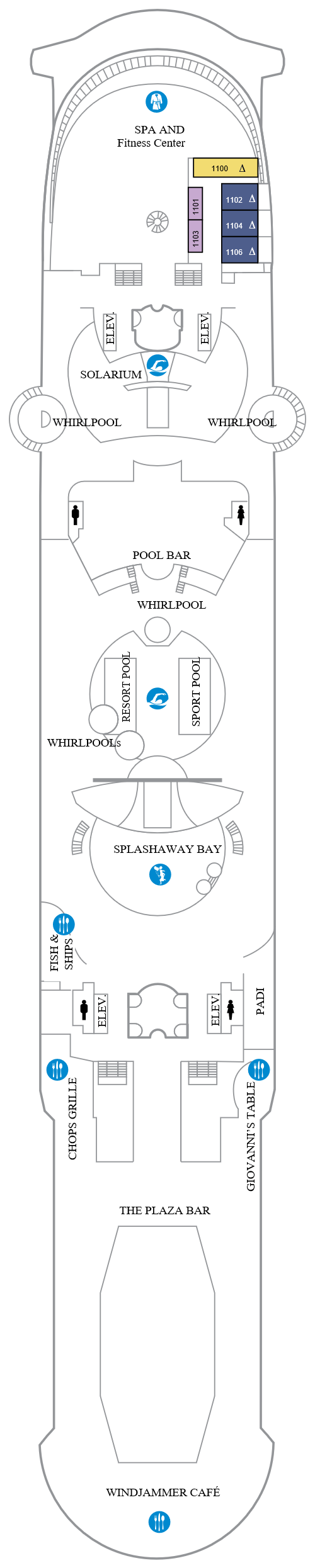 Independence Of The Seas Deck 11 layout