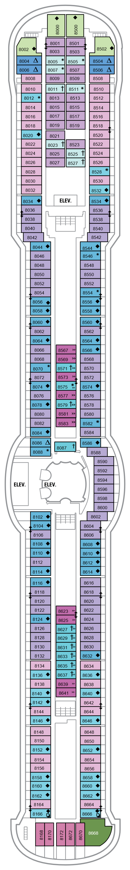 Jewel Of The Seas Deck 8 layout