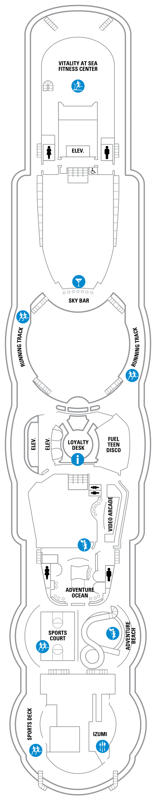 Jewel Of The Seas Deck 12 layout