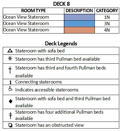 Majesty Of The Seas Deck 8 plan keys