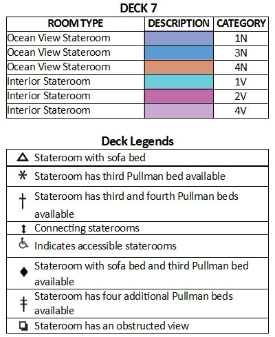 Majesty Of The Seas Deck 7 plan keys