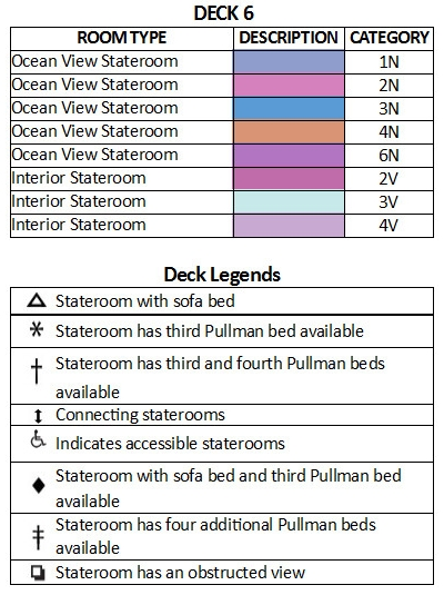 Majesty Of The Seas Deck 6 plan keys