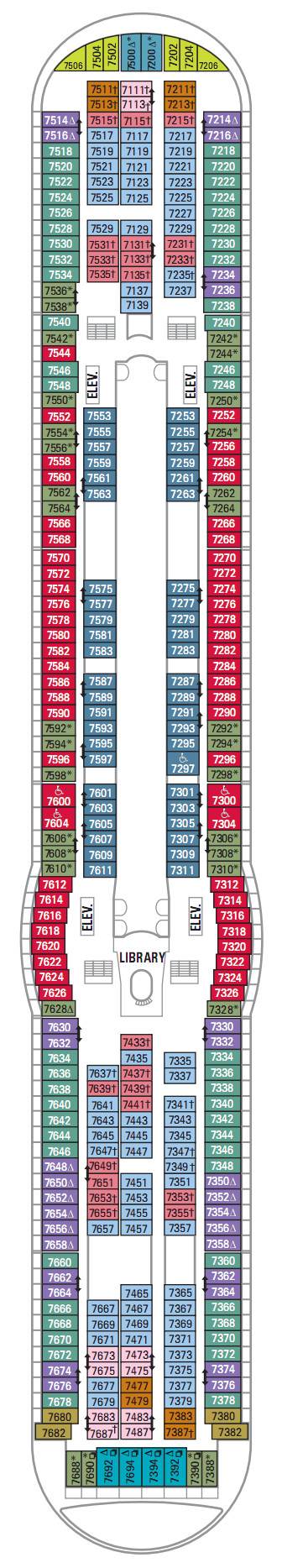 Navigator Of The Seas Deck 7 layout