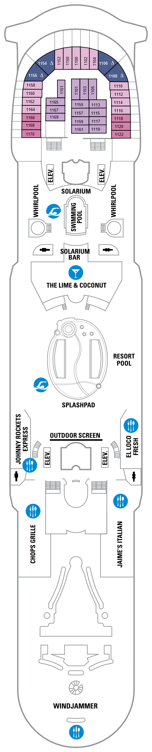 Navigator Of The Seas Deck 11 layout