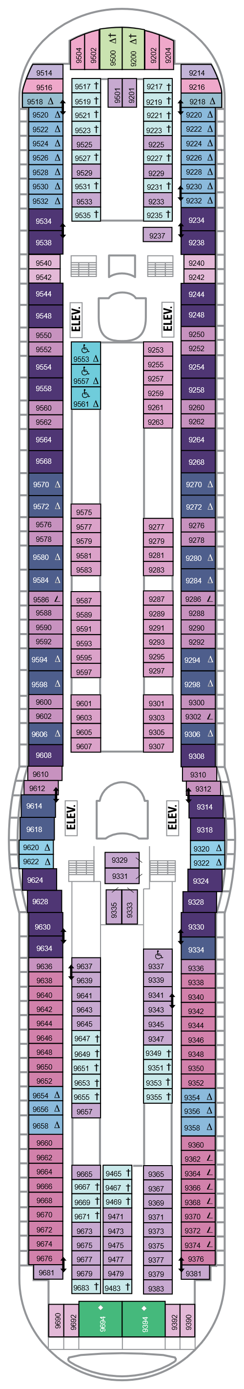 Navigator Of The Seas Deck 9 layout