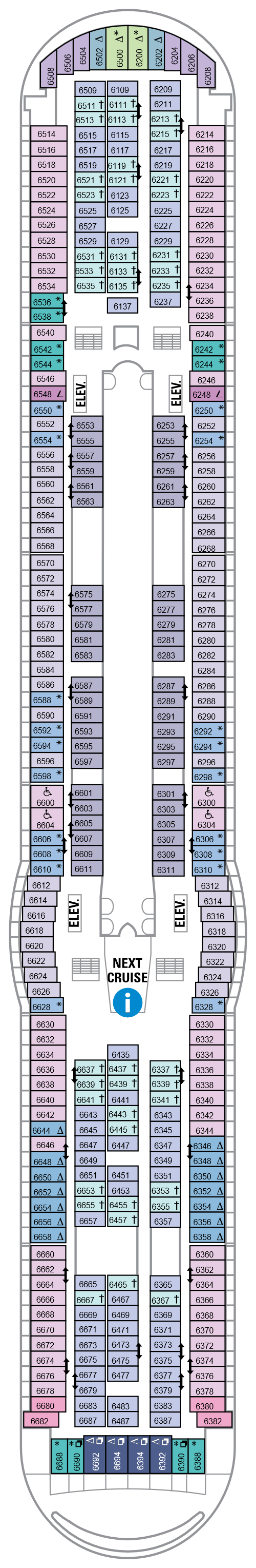 Navigator Of The Seas Deck 6 layout