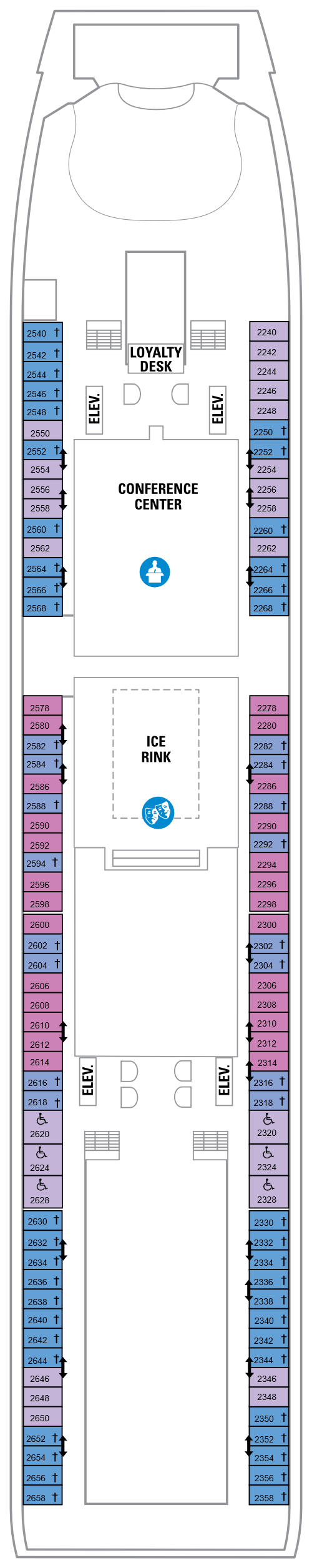 Navigator Of The Seas Deck 2 layout