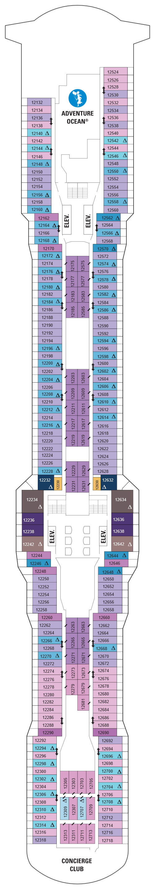 Quantum Of The Seas Deck 12 layout