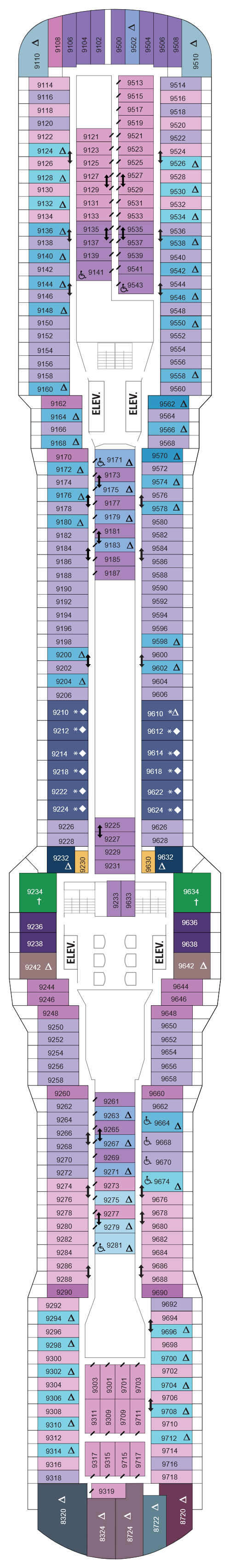 Quantum Of The Seas Deck 9 layout