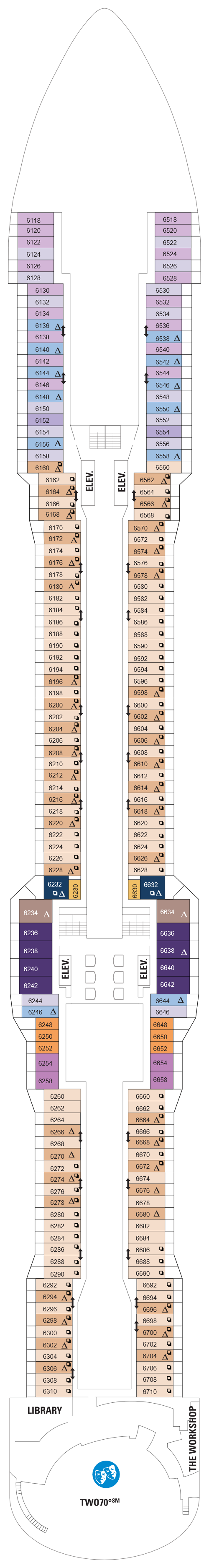 Quantum Of The Seas Deck 6 layout