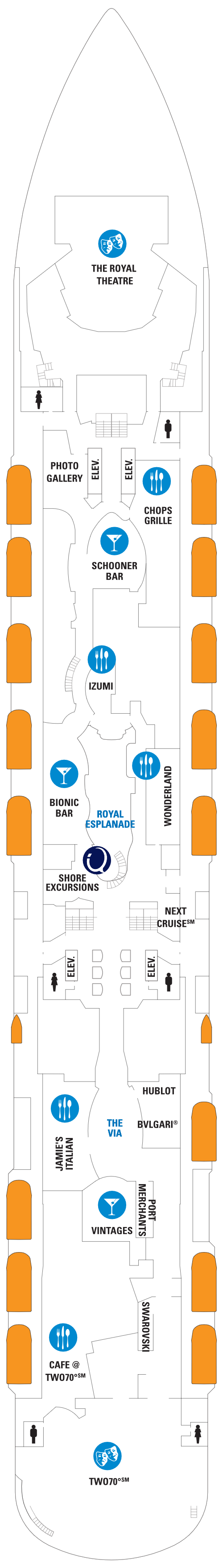 Quantum Of The Seas Deck 5 layout