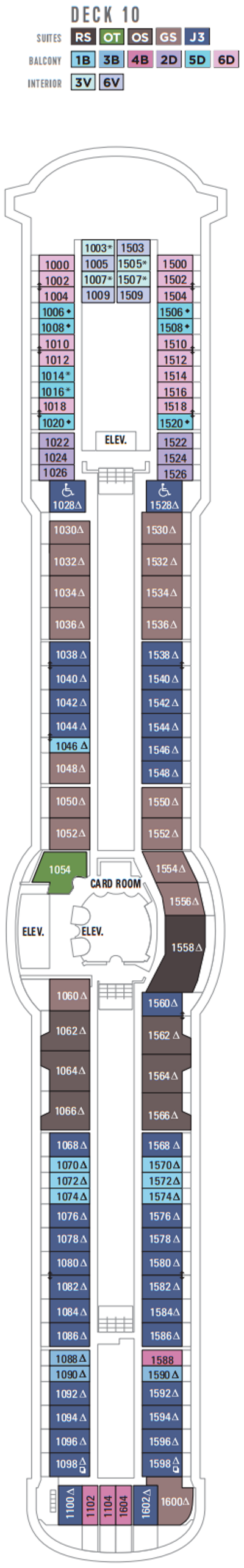 Radiance Of The Seas Deck 10 layout