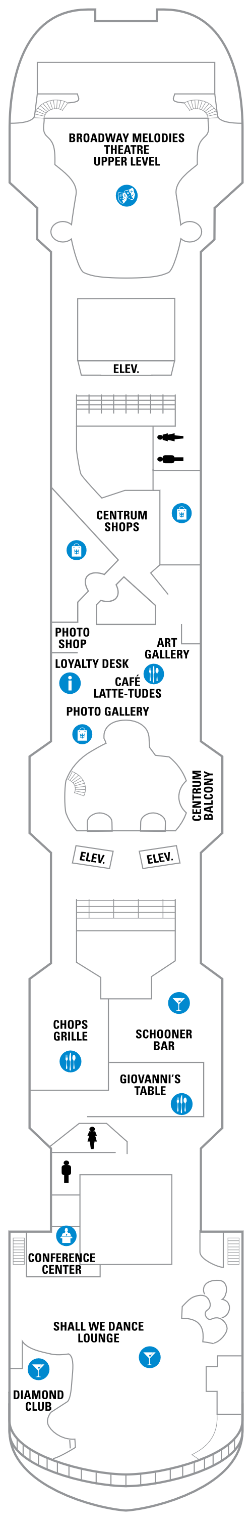Rhapsody Of The Seas Deck 6 layout