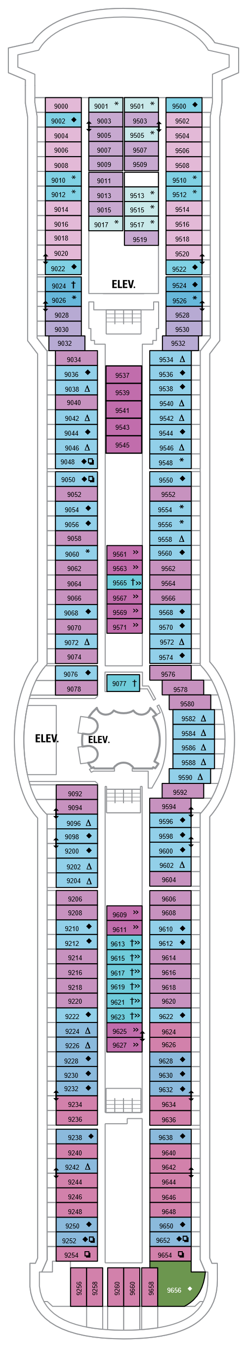 Serenade Of The Seas Deck 9 layout