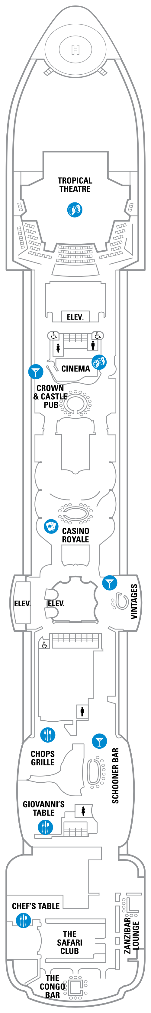 Serenade Of The Seas Deck 6 layout
