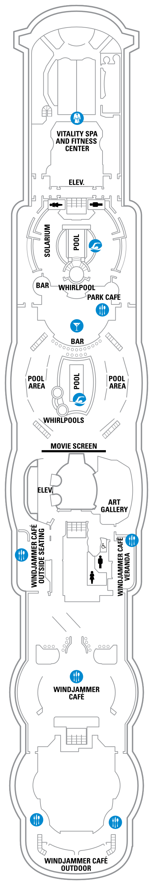 Serenade Of The Seas Deck 11 layout