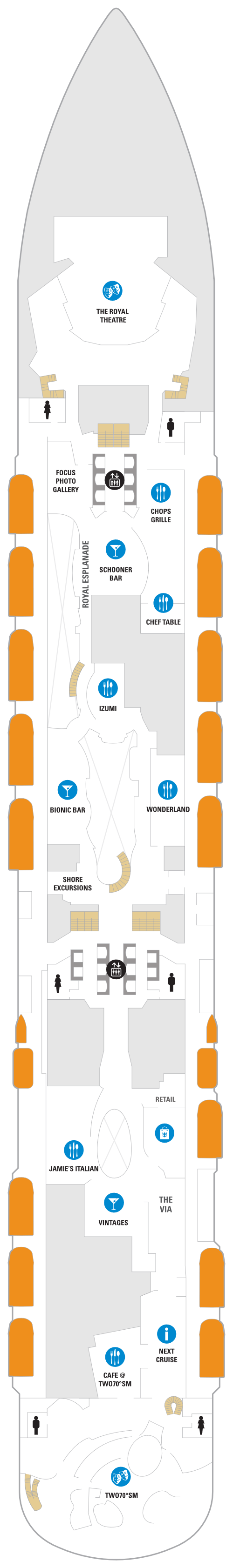 Spectrum Of The Seas Deck 5 layout