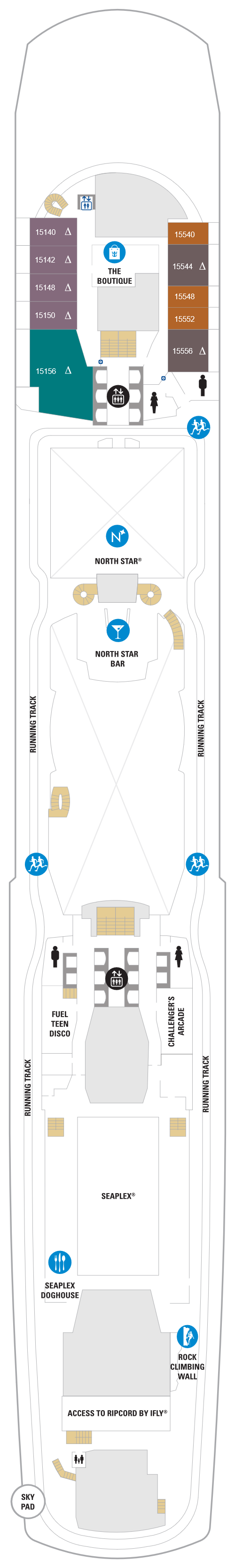Spectrum Of The Seas Deck 15 layout
