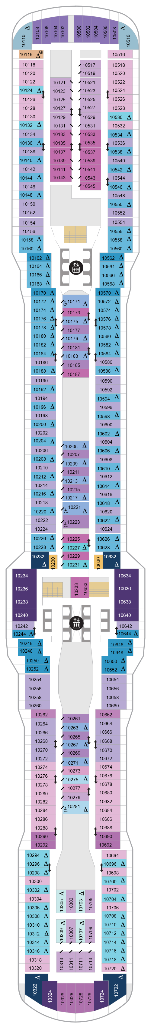 Spectrum Of The Seas Deck 10 layout