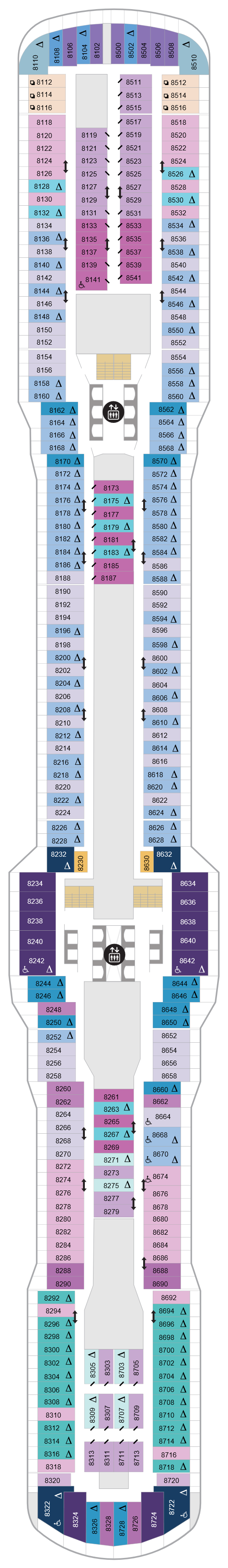 Spectrum Of The Seas Deck 8 layout