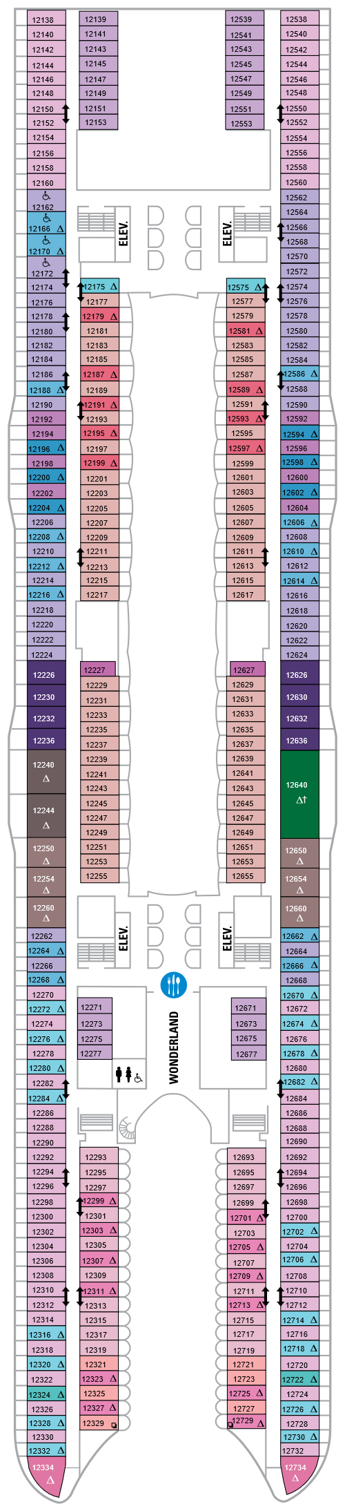 Symphony Of The Seas Deck 12 layout