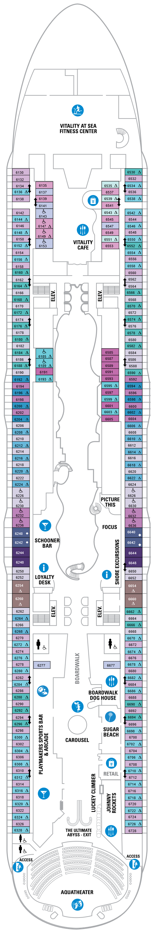 Symphony Of The Seas Deck 6 layout