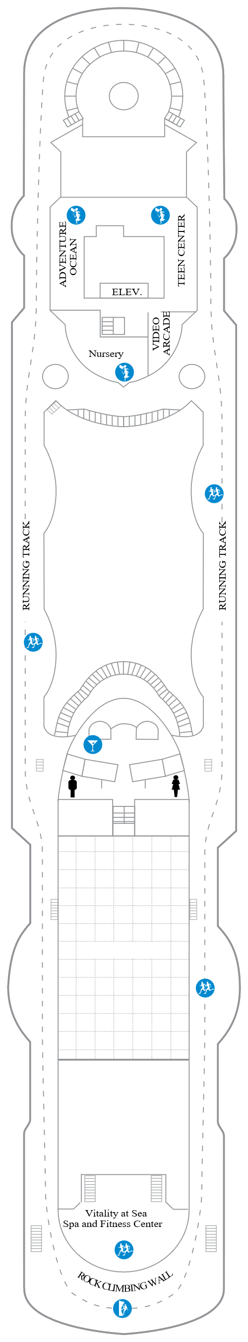 Vision Of The Seas Deck 10 layout