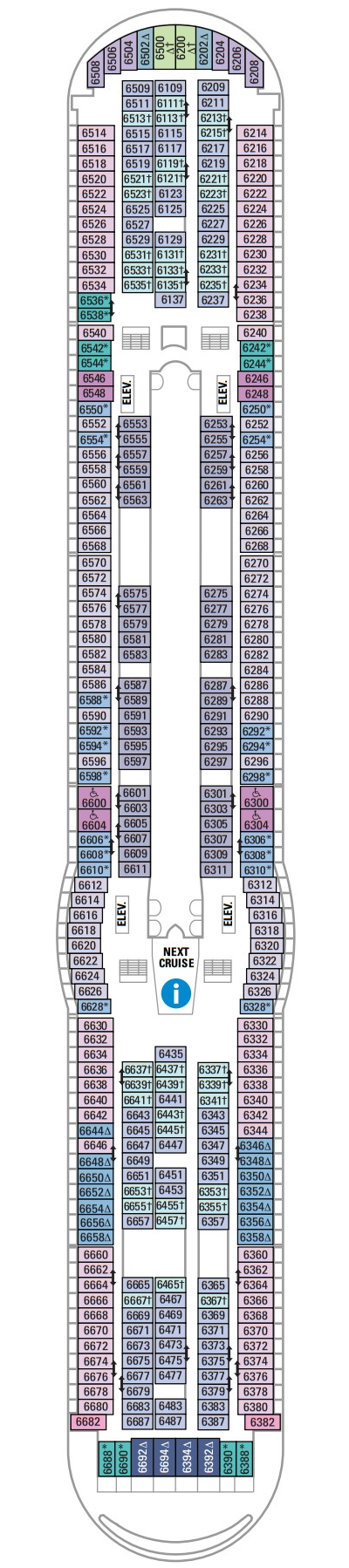 Voyager Of The Seas Deck 6 layout